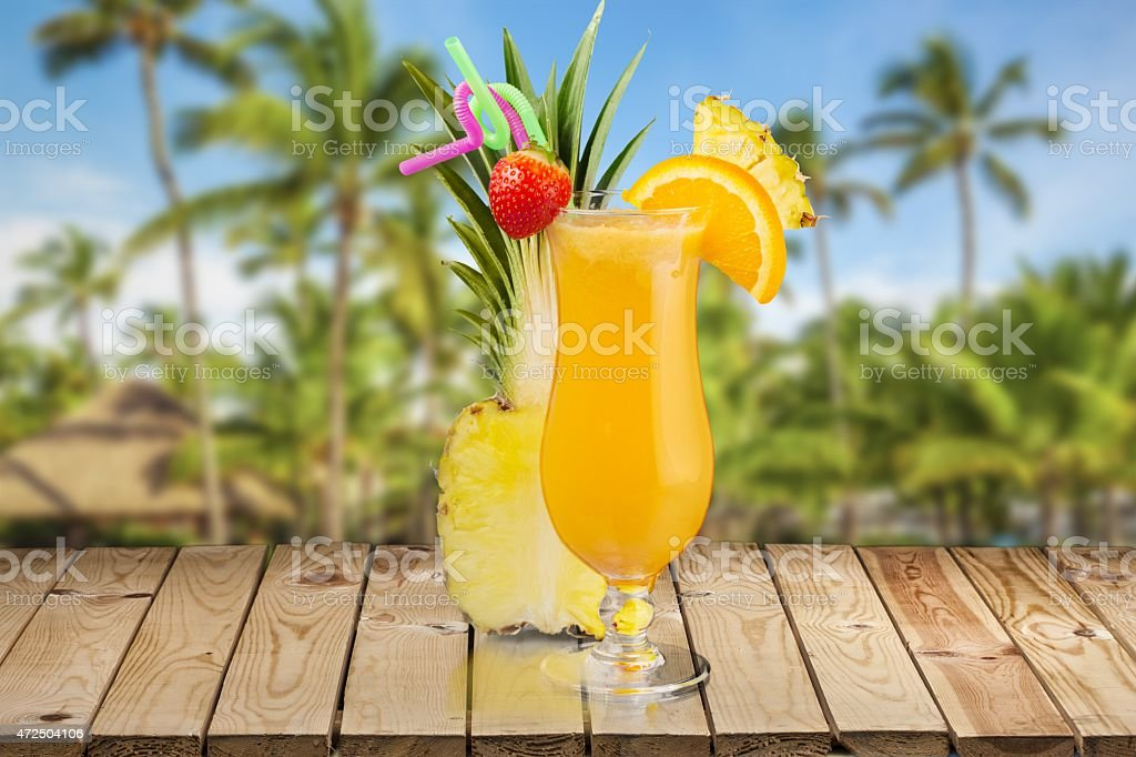 Cocktail. Cocktails Collection - Pina Colada stock photo