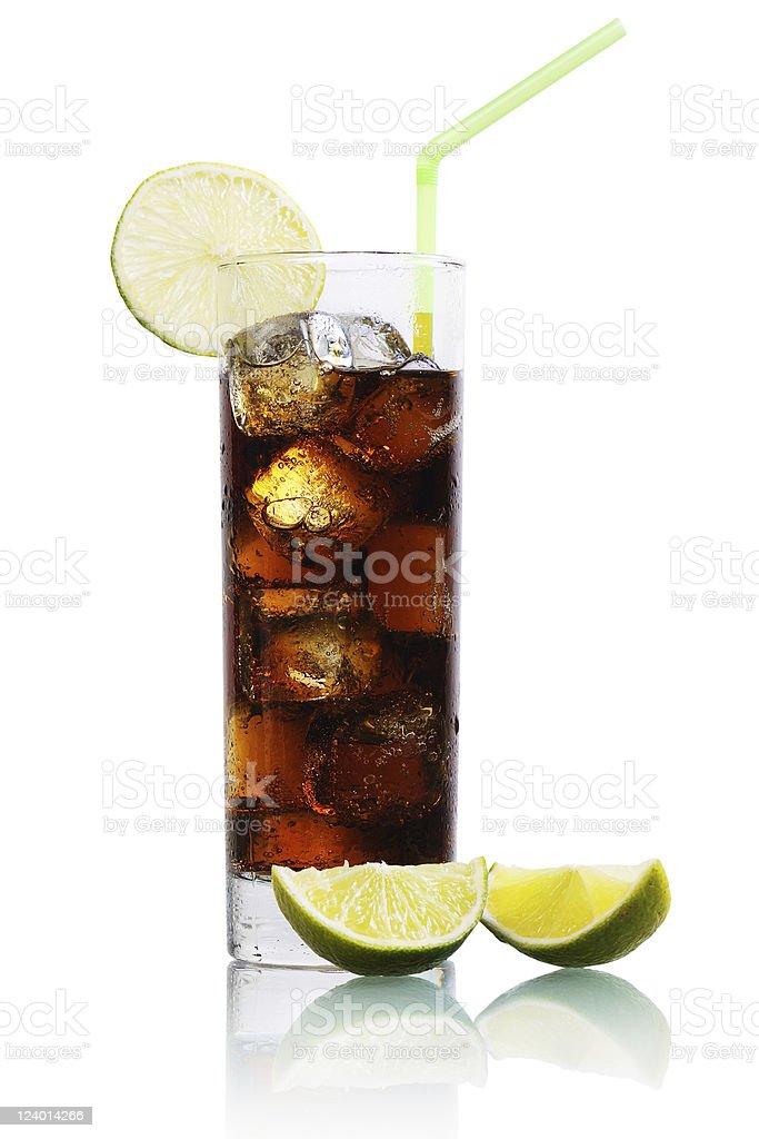 Cocktail Cuba Libre stock photo