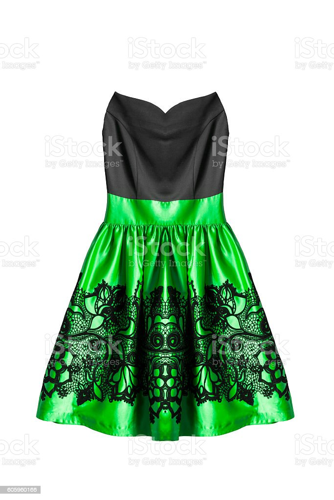 Cocktail dress isolated stock photo