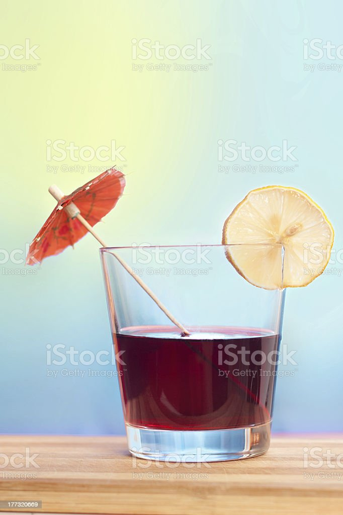 Cocktail drink on bright background royalty-free stock photo