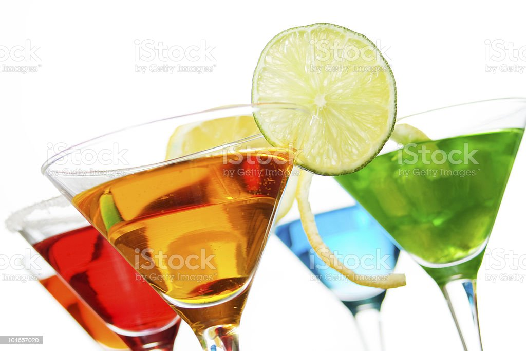 Cocktail drinks stock photo