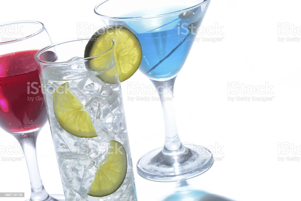 cocktail drinks(w/path) royalty-free stock photo