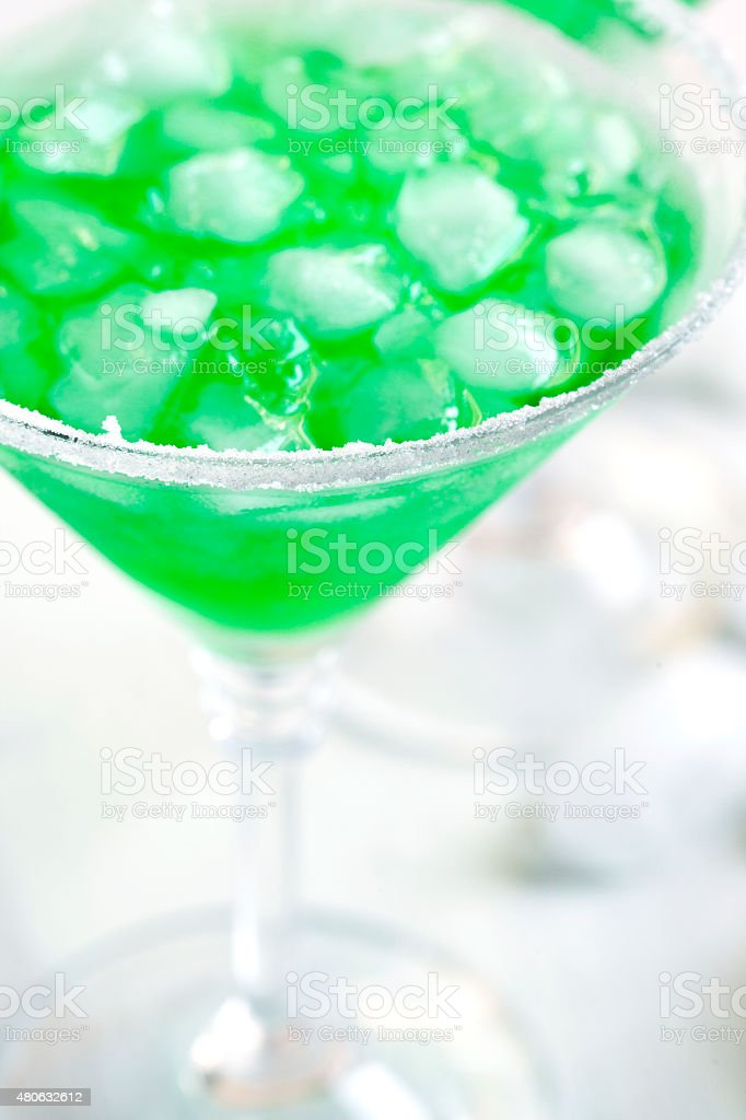 Cocktail 'Foggy London Town'. Green coktail stock photo