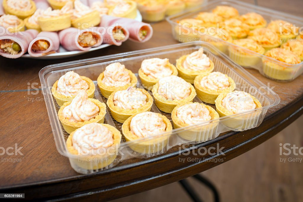 Cocktail food appetizer stock photo