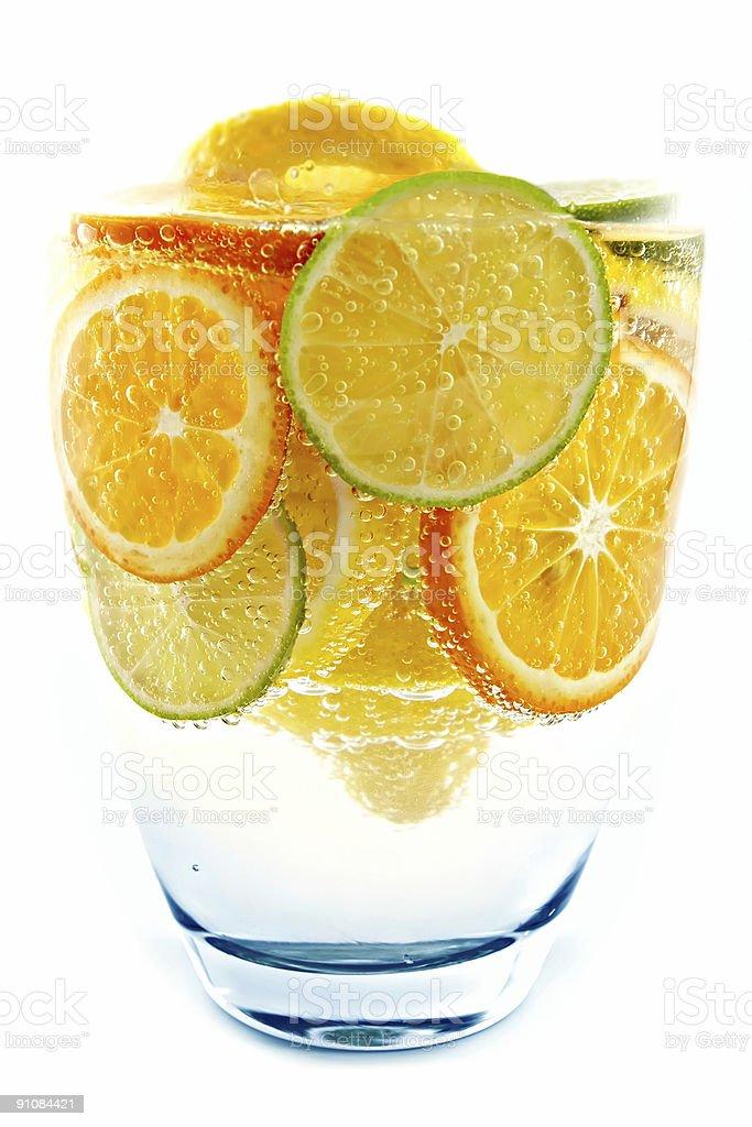 Cocktail from lime, lemon, tangerine, orange royalty-free stock photo