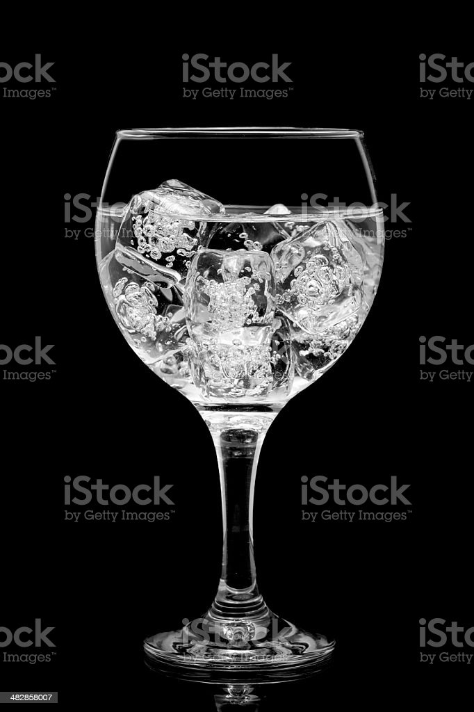 Cocktail glass over black background royalty-free stock photo