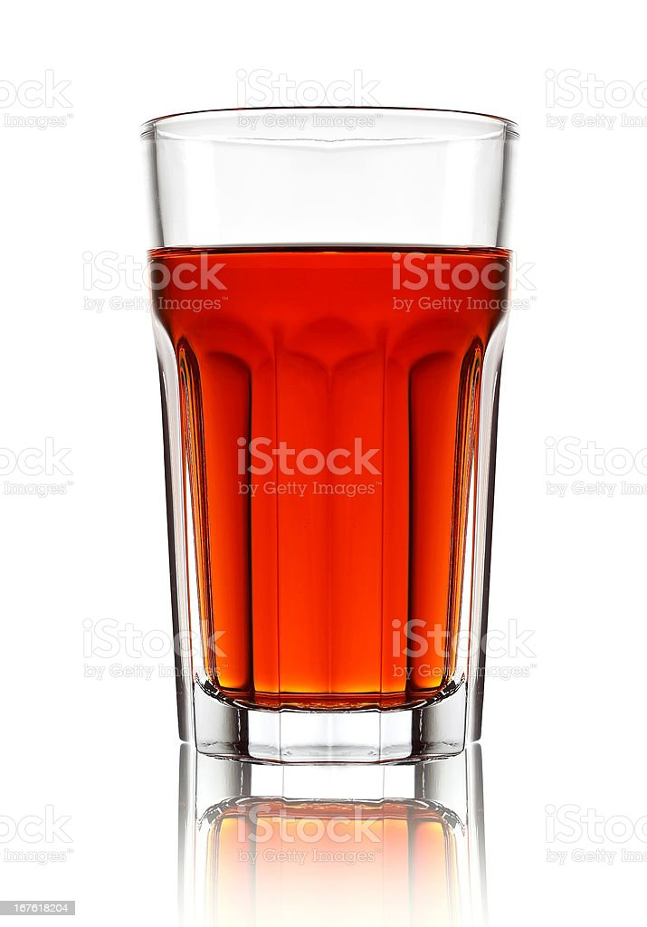 Cocktail glass with red liquid royalty-free stock photo