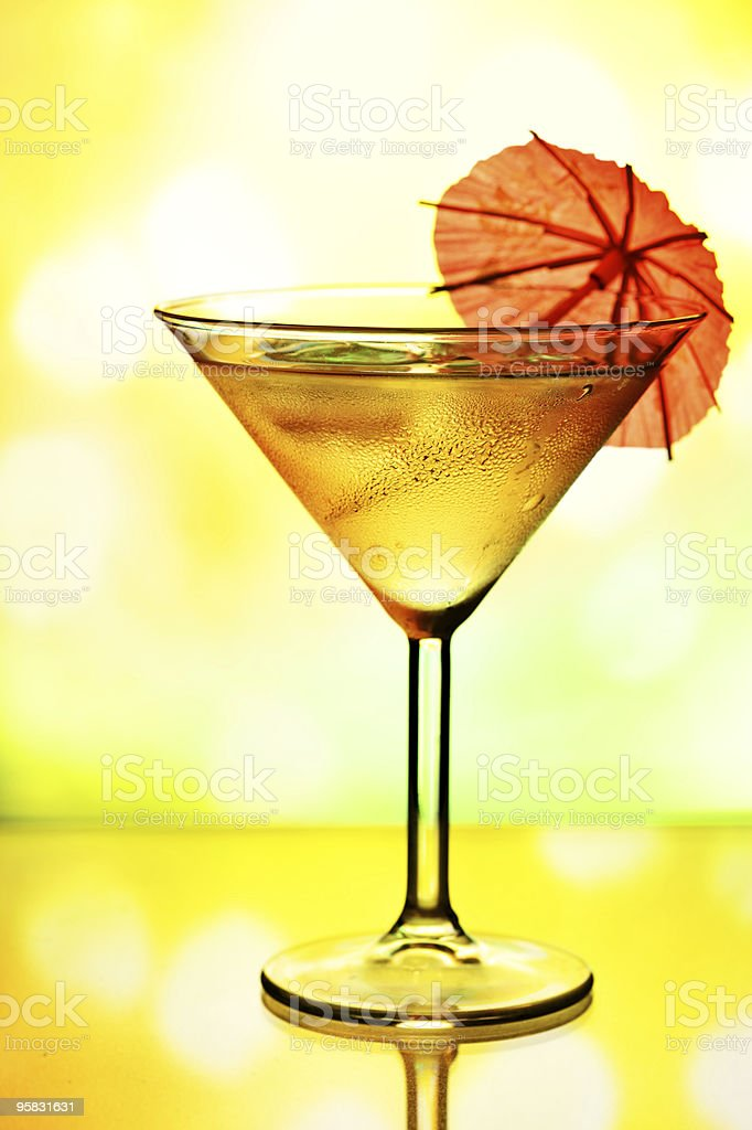 Cocktail glass with umbrella royalty-free stock photo