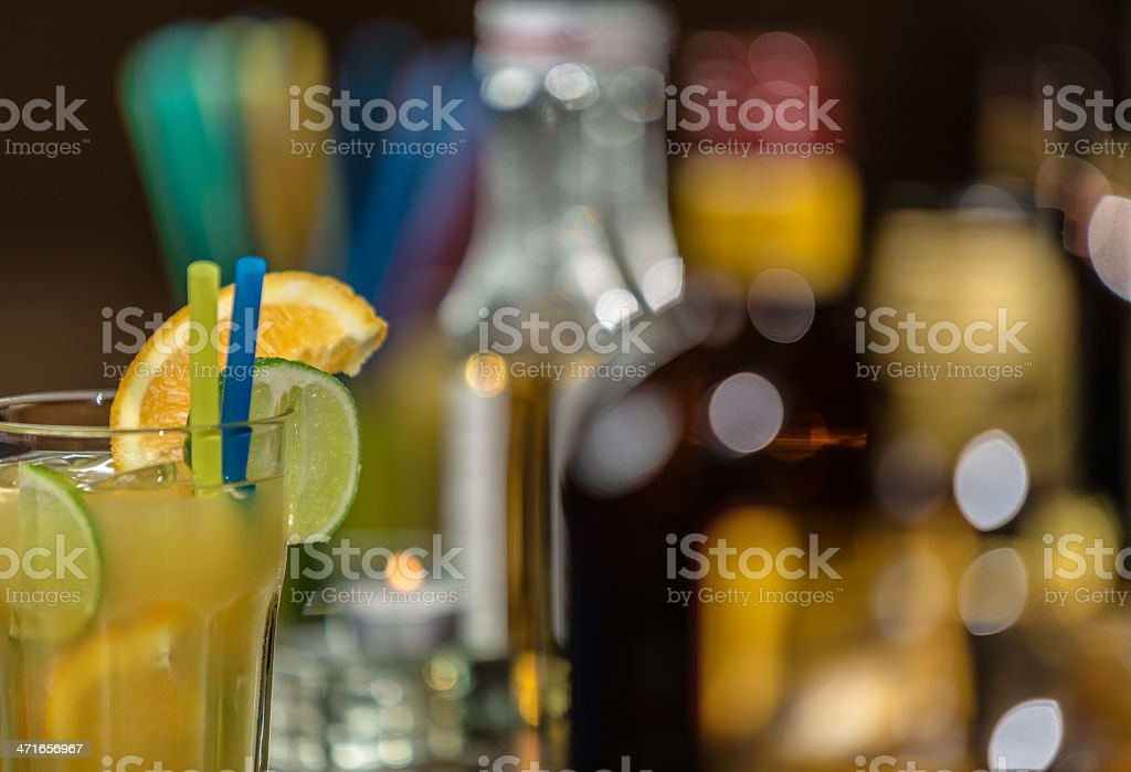Cocktail hour stock photo