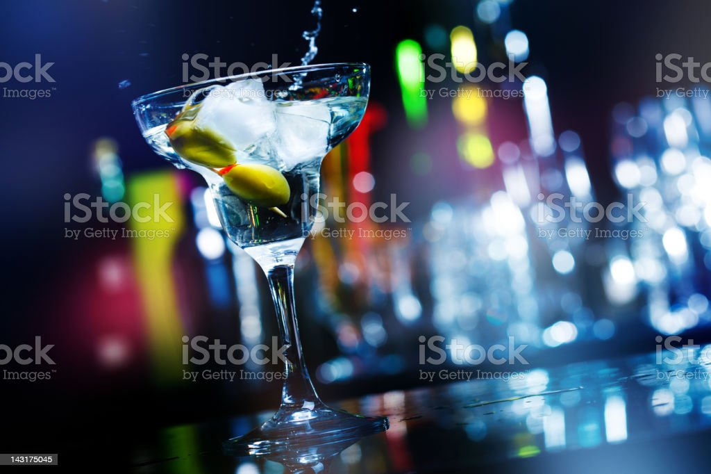 Cocktail in a nightclub royalty-free stock photo