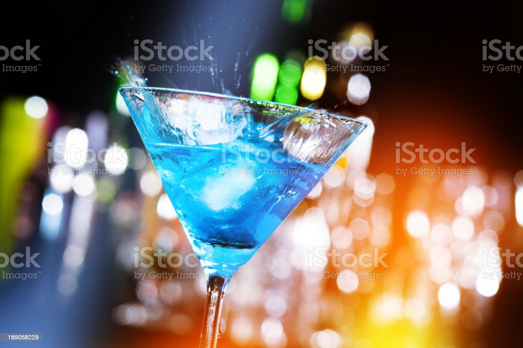 Cocktail in a nightclub stock photo