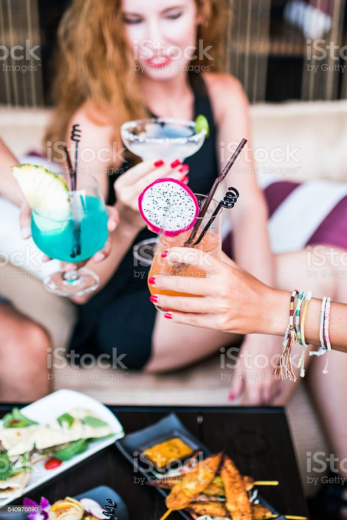 Cocktail in lounge bar stock photo