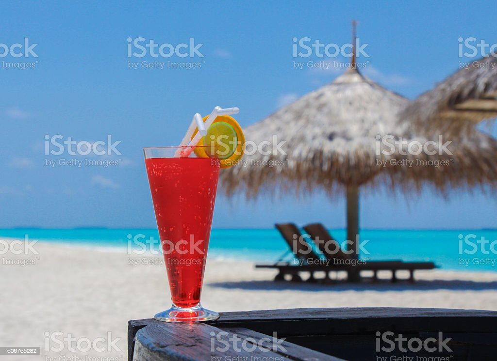 Cocktail in Maldives stock photo