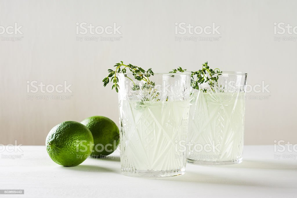 Cocktail in old fashioned glass stock photo