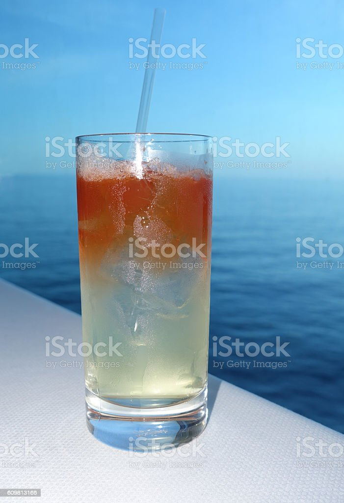 Cocktail in the Window stock photo