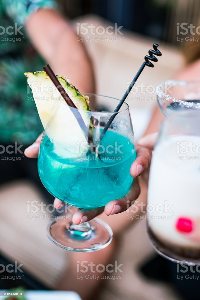 Cocktail in trendy lounge bar stock photo