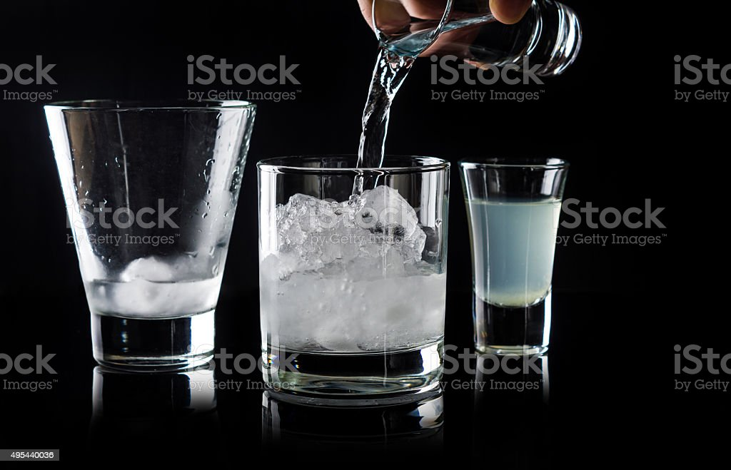 Cocktail making stock photo
