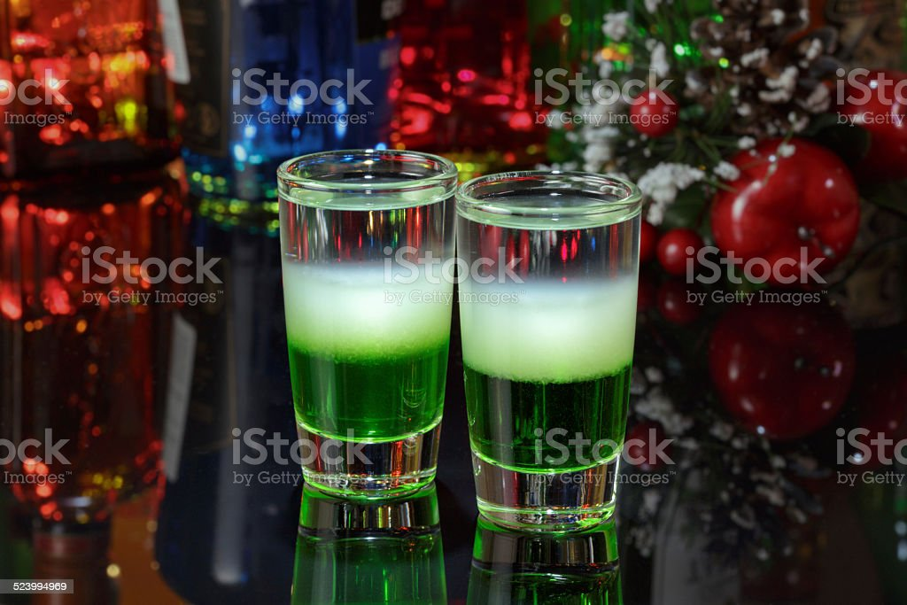 Cocktail 'Mexican green' stock photo