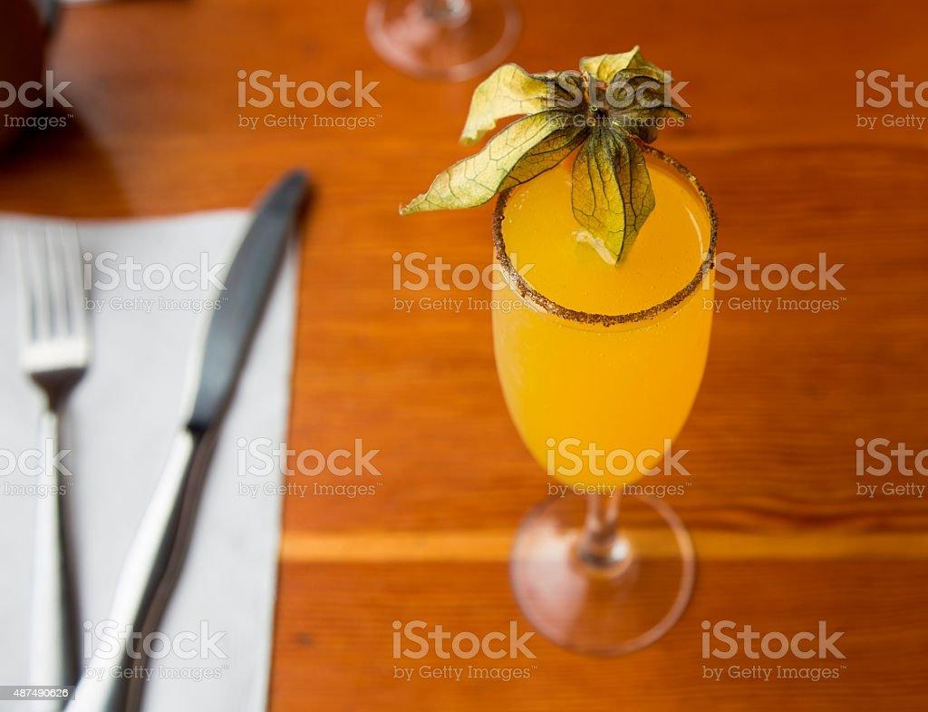 Cocktail Mimosa stock photo