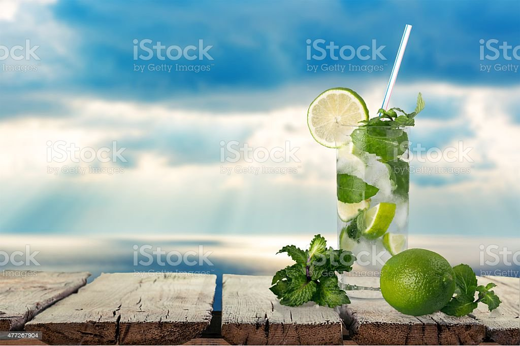 Cocktail, Mojito, Drink stock photo
