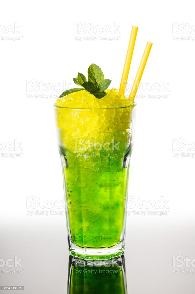 Cocktail mojito from ice stock photo