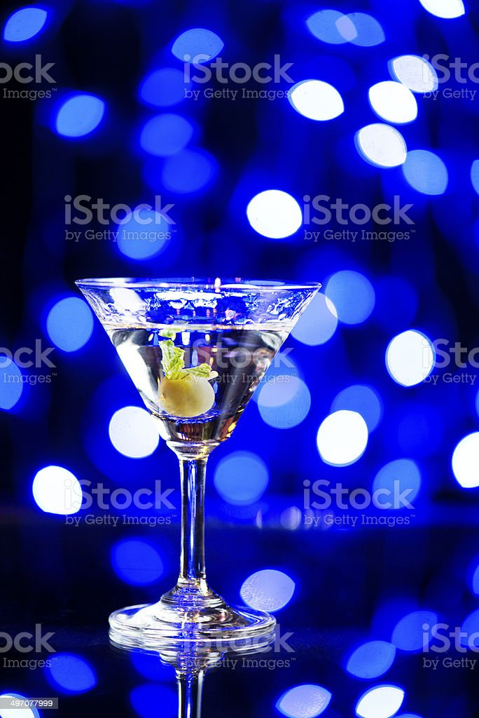 Cocktail Night Lights stock photo