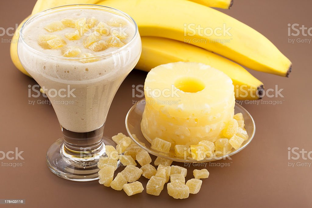 Cocktail of banana. royalty-free stock photo