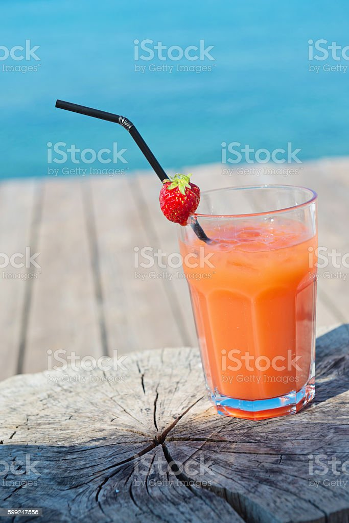Cocktail on the wooden table stock photo