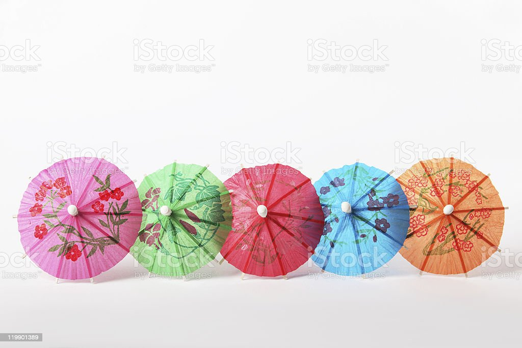 cocktail paper umbrellas royalty-free stock photo