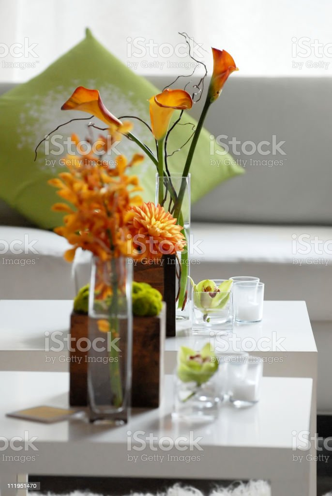 Cocktail Party Floral Arrangement royalty-free stock photo
