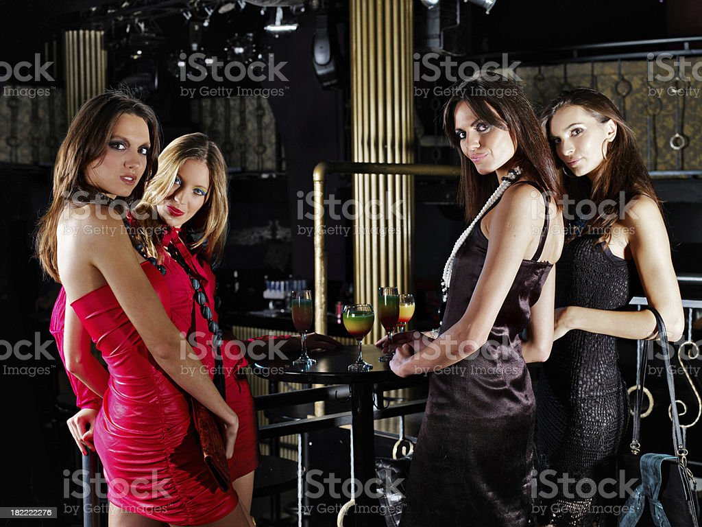 Cocktail party . Girls having fun royalty-free stock photo