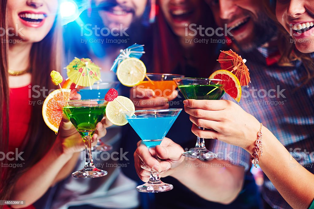 Cocktail party stock photo
