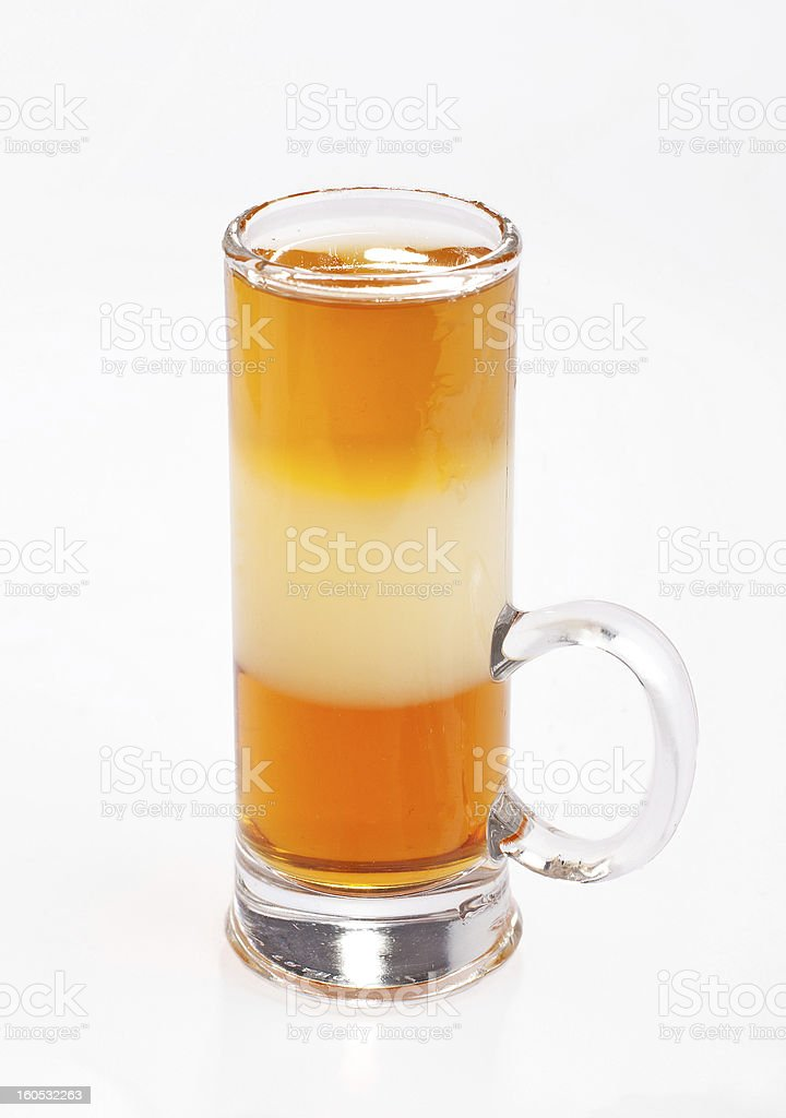 ABC cocktail royalty-free stock photo