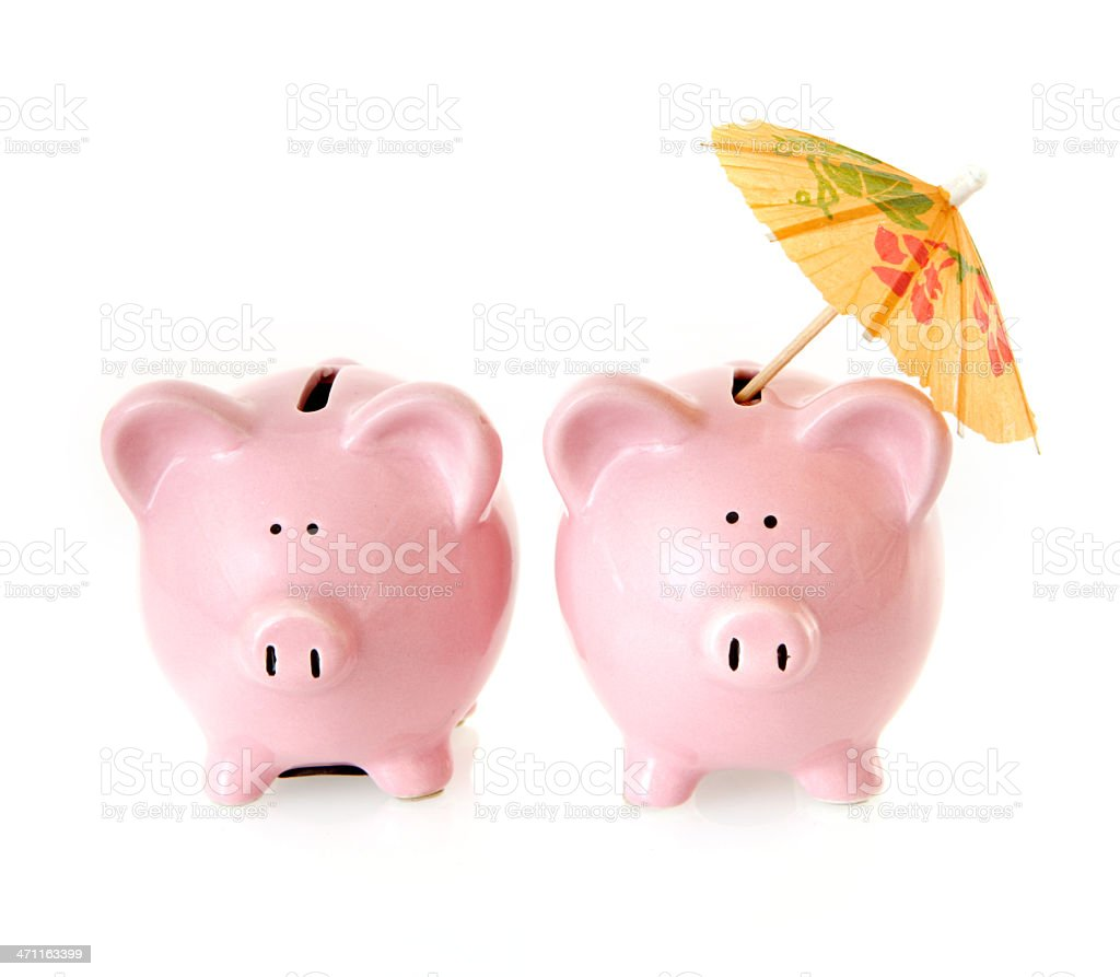 Cocktail Piggybank royalty-free stock photo