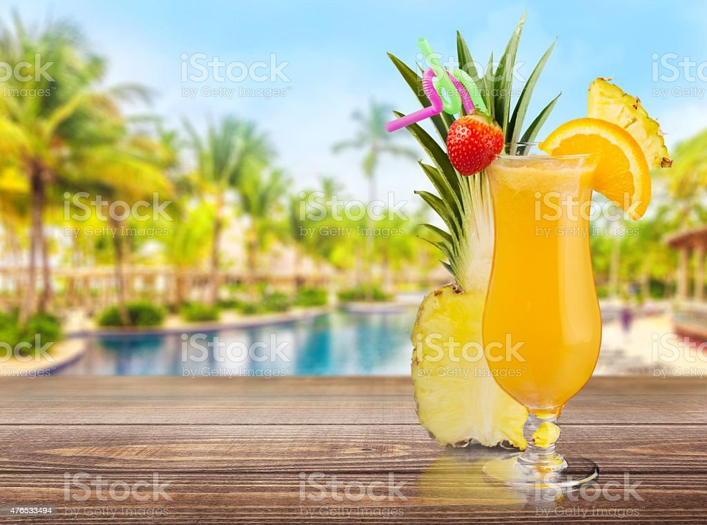 Cocktail, Pina Colada, Pineapple stock photo