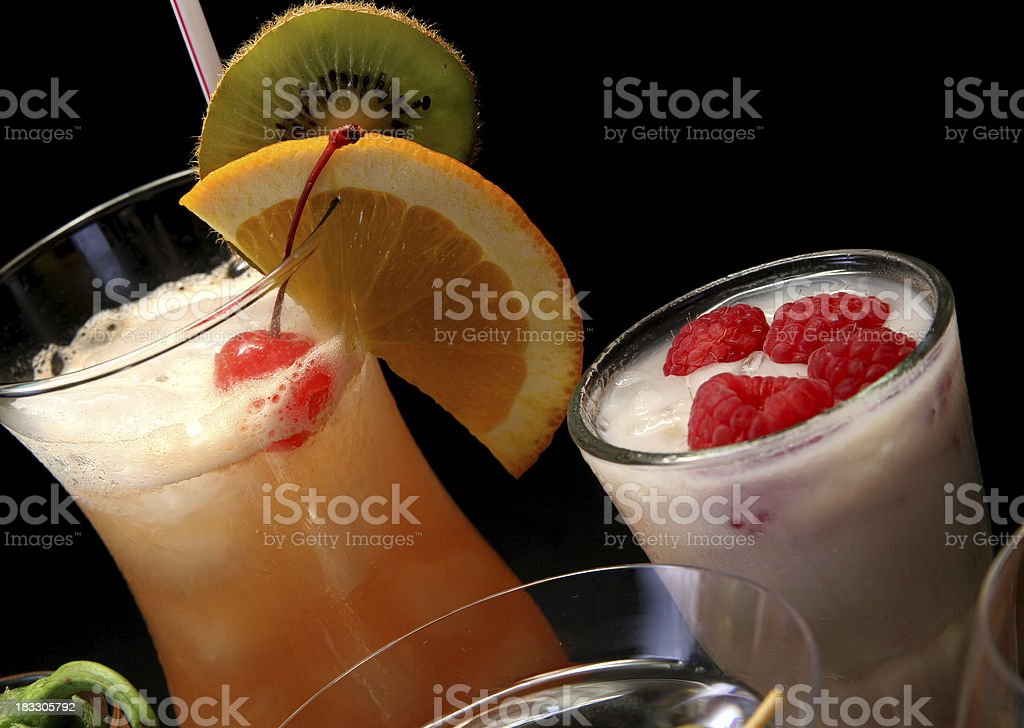 Cocktail reflections 6. stock photo