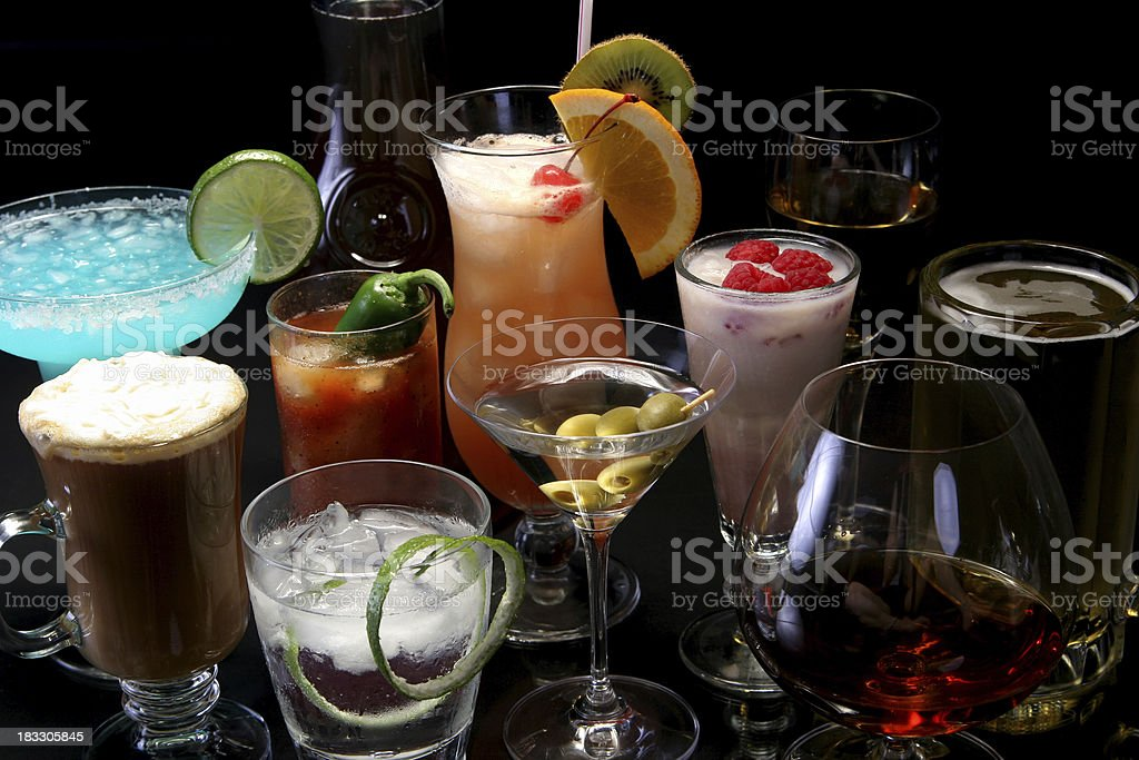 Cocktail reflections 8. royalty-free stock photo