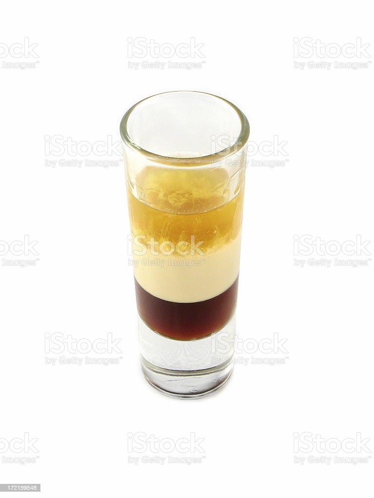 cocktail series: B52 shooter. stock photo