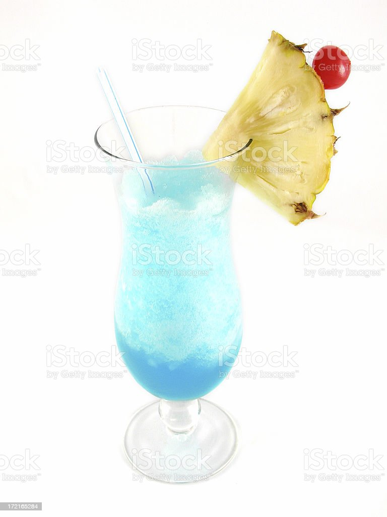 cocktail series: Blue Hawaii. royalty-free stock photo