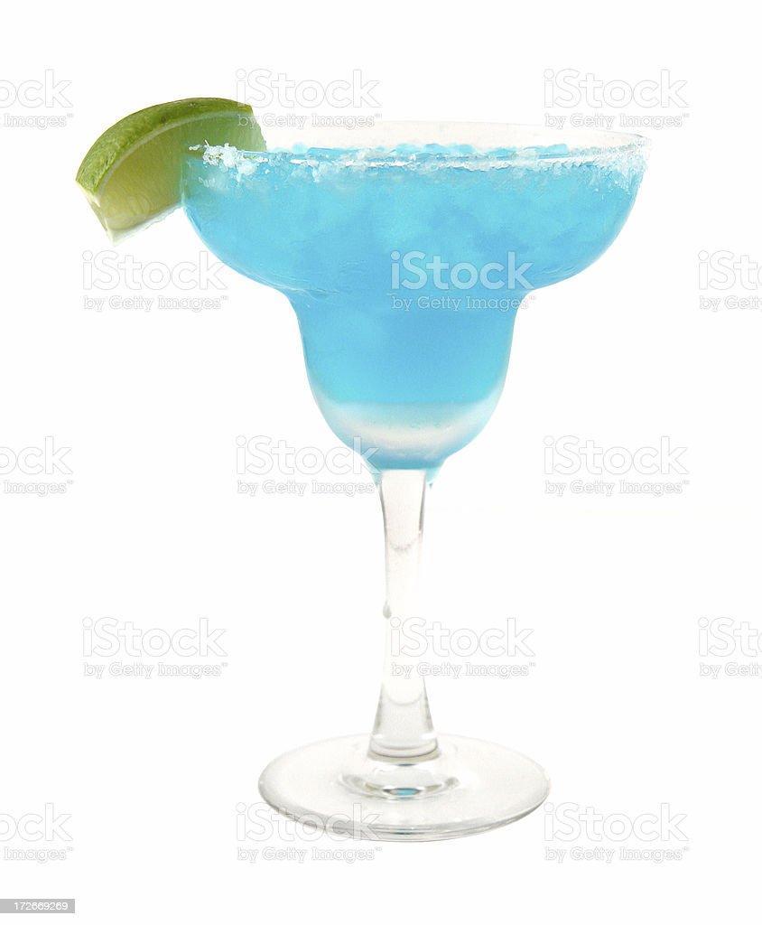 cocktail series: Blue Margarita. stock photo