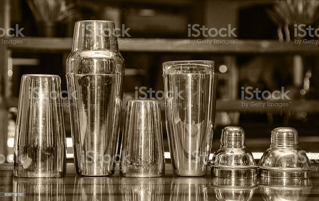 cocktail shaker, bar stock photo