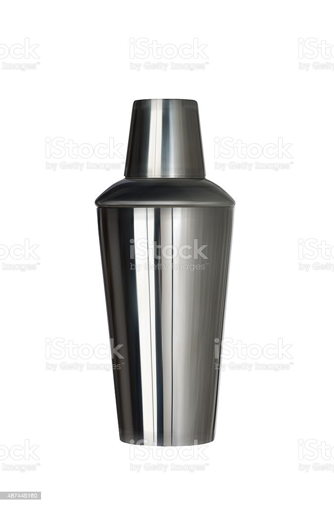 Cocktail shaker stock photo