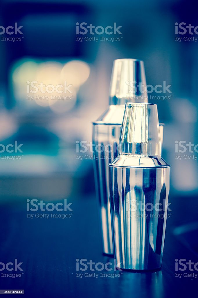 Cocktail Shakers stock photo