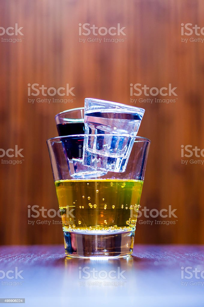 Cocktail Short Tequila Chuck Norris stock photo