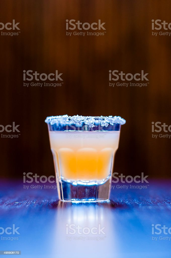 Cocktail Shot Tequila Kiss stock photo