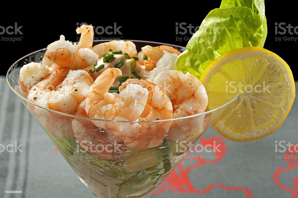 Cocktail Shrimp with Avocado Salsa royalty-free stock photo