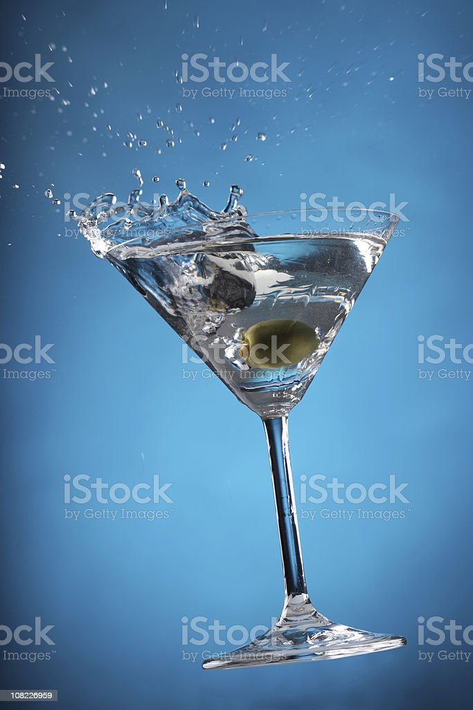 Cocktail Splash - Blue royalty-free stock photo