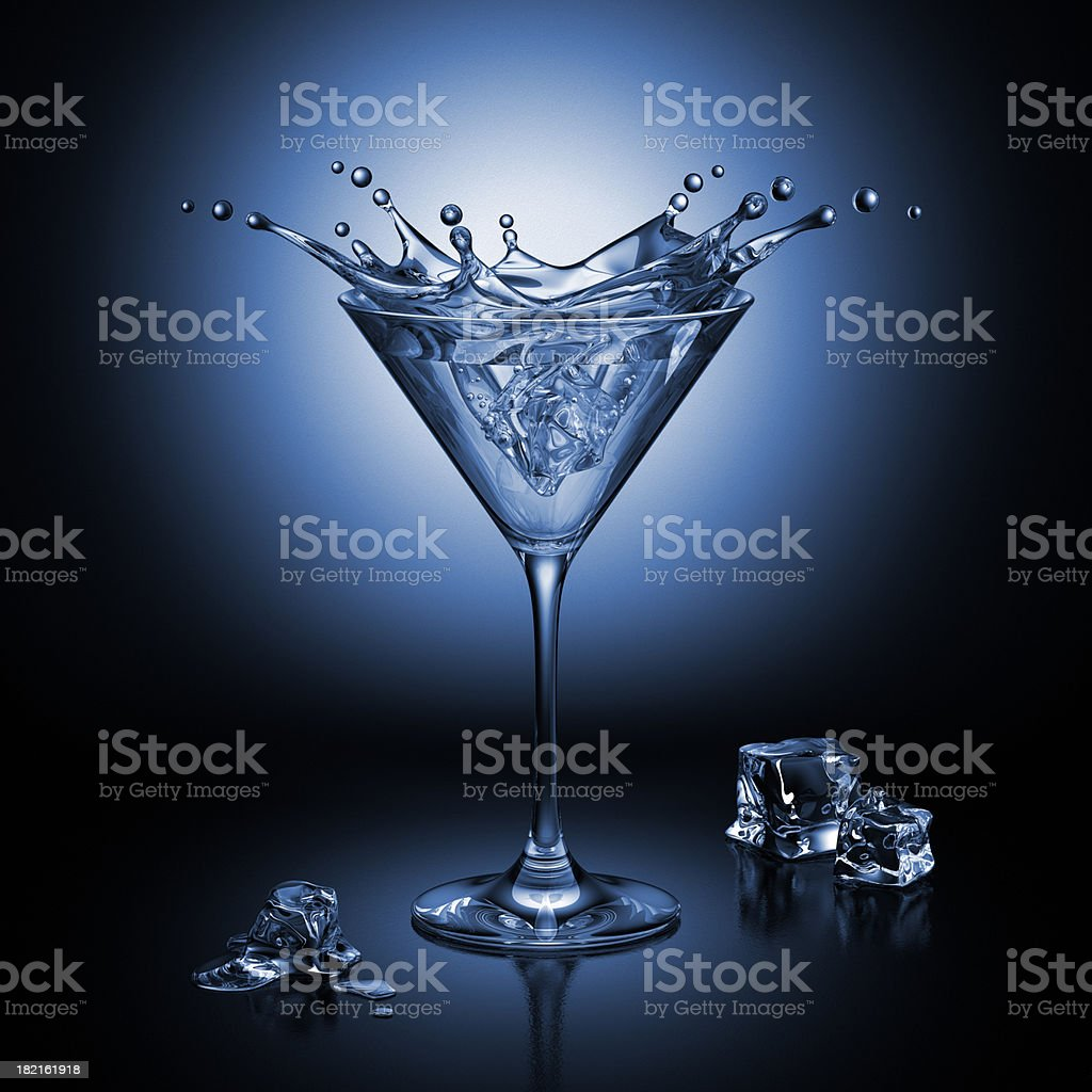 Cocktail Splash In The Glass stock photo