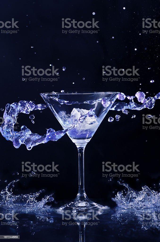 Cocktail Splash royalty-free stock photo