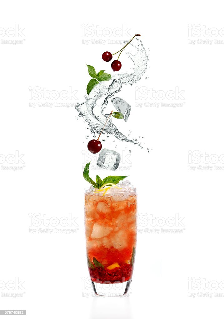 Cocktail splash stock photo